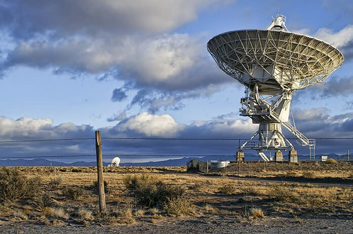 Landscape of Very Large Array of Radio Telescopes in New Mexico, USA